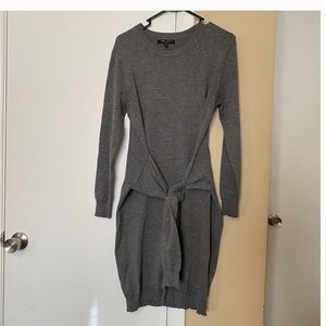 Sweater Dress with waist sweater arms belt